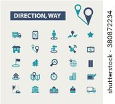 direction  location  map  route ... | Shutterstock .eps vector #380872234