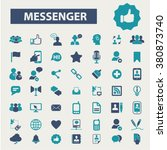 messenger icons | Shutterstock .eps vector #380873740