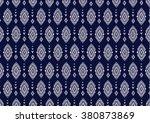 geometric ethnic pattern... | Shutterstock .eps vector #380873869