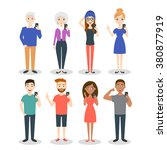 vector illustration of people...   Shutterstock .eps vector #380877919