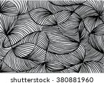 abstract line art background ... | Shutterstock .eps vector #380881960