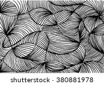 abstract line art background ... | Shutterstock .eps vector #380881978