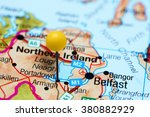 Portadown pinned on a map of Northern Ireland