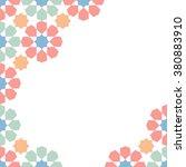 multicolor moroccan zellige... | Shutterstock .eps vector #380883910