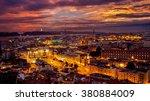 a colourful sunset in lisbon | Shutterstock . vector #380884009