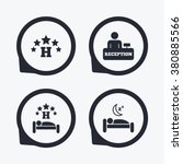 five stars hotel icons. travel... | Shutterstock .eps vector #380885566