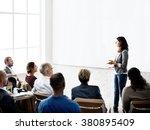 business team seminar listening ... | Shutterstock . vector #380895409