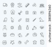 outline web icon set   pet  vet