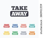 take away sign icon. takeaway... | Shutterstock .eps vector #380901559