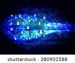 social media network concept.... | Shutterstock .eps vector #380902588