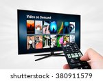 video on demand vod service on... | Shutterstock . vector #380911579