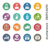 medical   health care icons set ... | Shutterstock .eps vector #380914690