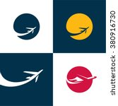airplane icons. airlines. plane | Shutterstock .eps vector #380916730