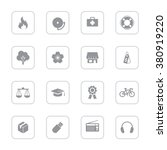 gray flat miscellaneous icon...