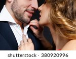 sexy kissing stylish couple of... | Shutterstock . vector #380920996