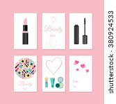 beauty and make up style gift... | Shutterstock .eps vector #380924533
