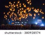 sky lanterns in lantern... | Shutterstock . vector #380928574