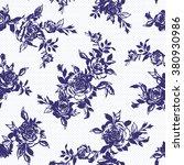 rose illustration pattern | Shutterstock .eps vector #380930986