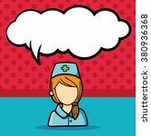 career character doodle  speech ... | Shutterstock .eps vector #380936368