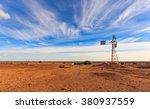Old Australian Windmill During...