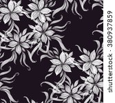 hand drawn vector floral... | Shutterstock .eps vector #380937859
