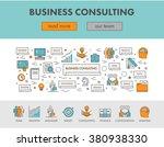 linear concept web banner for... | Shutterstock .eps vector #380938330
