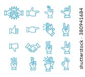 hand gestures from clapping... | Shutterstock .eps vector #380941684