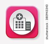 hospital icon   Shutterstock .eps vector #380943340