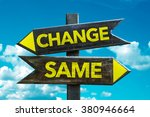 change   same signpost with sky ... | Shutterstock . vector #380946664