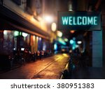 led display   welcome signage | Shutterstock . vector #380951383