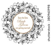 romantic invitation. wedding ... | Shutterstock . vector #380960998
