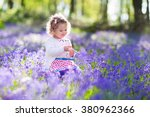 Little Girl Playing In Sunny...