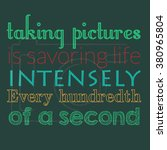 photography quote poster | Shutterstock .eps vector #380965804