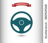steering wheel icon vector | Shutterstock .eps vector #380969068