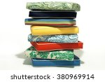 Stack Of Seat Cushions On Whit...