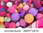 Colorful Wool Or Yarn Balls In...