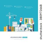 flat design illustration... | Shutterstock .eps vector #380972668