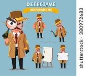 detective character set.... | Shutterstock .eps vector #380972683