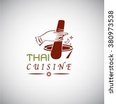 thai food concept. thai cuisine ... | Shutterstock .eps vector #380973538