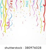 colorful celebration ribbon... | Shutterstock . vector #380976028