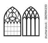 gothic windows. vintage frames. ... | Shutterstock .eps vector #380984350