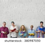 students youth adult reading... | Shutterstock . vector #380987050