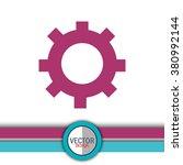 social media icon design   cog  ... | Shutterstock .eps vector #380992144