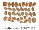 collection of ocean stones... | Shutterstock . vector #380995156