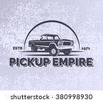 pickup car vector emblem on... | Shutterstock .eps vector #380998930