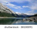 medicine lake in jasper... | Shutterstock . vector #38100091