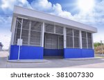 steel storehouse  shed   | Shutterstock . vector #381007330