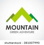 mountain ribbon of green... | Shutterstock .eps vector #381007990