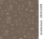 seamless pattern. different... | Shutterstock .eps vector #381011098