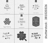 saint patricks day typography... | Shutterstock .eps vector #381020326
